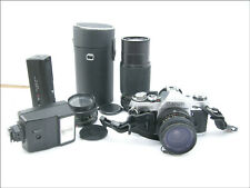 Cannon AE-1, 35 mm Film Camera, 1976, 28 MM, 80-205 mm, 50 MM Lenses