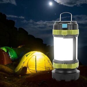 Portable LED Camping Torch Rechargeable Lantern Night Light Tent Lamp Power Bank