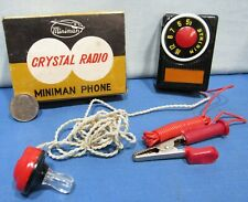 Miniman ~ Crystal Radio 1950's Japan Import ~ Germanium Diode ~ NIB