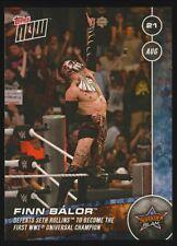 FINN BALOR 2016 Topps NOW WWE SummerSlam PHYSICAL Card #2 (Print Run 221)