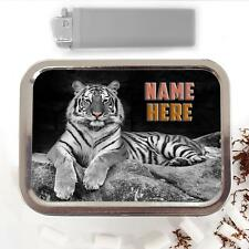 Wild Tiger Big Cat 2oz Tobacco Tin Baccy Storage Case Pouch Personalised SH233