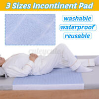 Washable Reusable Waterproof Underpad Bed Pad Incontinence Mattress Protectors !