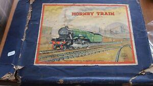 HORNBY O GAUGE CLOCKWORK TANK GOODS TRAIN SET NO.201