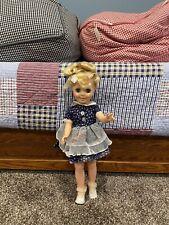 """Vintage Miss Sunbeam Advertising Eegee Sleepy Eyes Plastic Doll 18"""" Original"""
