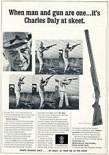 1965 Print Ad of Charles Daly Superior Grade Model Shotgun skeet shoot