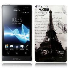 Hardcase Schutzhülle für Sony xperia Go / St27i Eiffelturm schwarz weiß Case