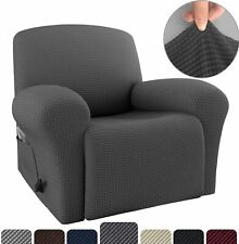 Hot Stretch Recliner Cover Chair Sofa Slipcover for Living Room with Side Pocket