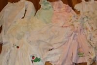 Lot of 10 Vintage Healthtex Baby Girls Floral Rosebud Ruffle Romper Sunsuit