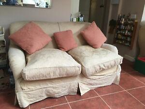 Tetrad two-seater sofa, used.  Machine-washable loose covers, spare set inc.