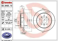 Disc Brake Rotor-Premium UV Coated OE Equivalent Rotor Rear Brembo 08.8463.11