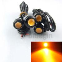 4pcs 3W Car LED DRL Eagle Eye Screw Backup Reverse Amber Fog Driving Light Lamp