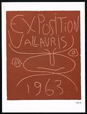 1960s Vintage Pablo Picasso Exposition Vallauris 63 Poster Art Print