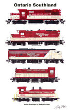 """Ontario Southland 11""""x17"""" Poster by Andy Fletcher signed"""