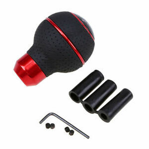 5 Speed Aluminum Manual Car Gear Stick Shifter Lever Leather Gear Shift Knob Red
