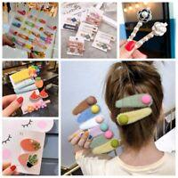Fashion Womens Girl Kids Fruit Flower Barrette Hair Clip Bobby Pin Snap Hairpin