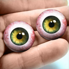 20mm Hazel Green Human Taxidermy Glass Eyeballs Doll Jewelry Halloween Supplies