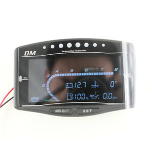 12/24V 5IN1 Car Truck Oil Pressure+Water Temp+Fuel Gauge+Tachometer +Voltmeter