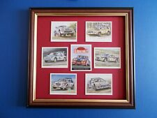 CARS OF THE 80S CLASSIC RALLY CARDS MOUNTED AND FRAMED
