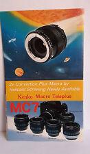 D14> Brochure Kenko Macro Teleplus MC7