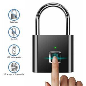 Fingerabdruck Smart Keyless USB Vorhängeschloss Türschloss Fingerprint Lock Neu