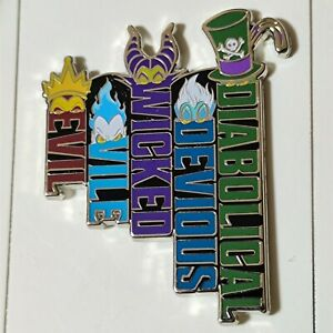 Halloween 2020 Villains - Diabolical Devious Wicked Vile Evil Disney Pin 140812