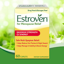 Estroven Maximum Strength + Energy 60 Caplets Hot Flashes Night Sweats MENOPAUSE