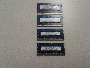 4GB SET - HYNIX 1GB X 4 PC2-6400S DDR2 LAPTOP MEMORY - 4 PIECES @ 1GB EACH