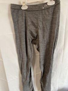 Watson Youth 100% Merino Wool,Long John, Base Layer Size Youth 14/16 Gray