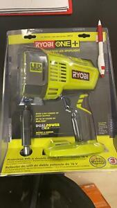 Spotlight Ryobi 18-Volt ONE+ LED Spotlight with 12-Volt Automotive Cord