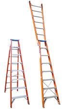 INDALEX Pro Series Fibreglass Dual Purpose Ladder 1.8m - 3.2m