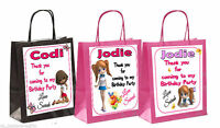 PERSONALISED GIRLS BIRTHDAY PARTY PAPER GIFT / FAVOUR PARTY BAGS