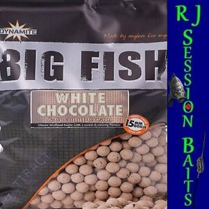 Dynamite Baits White Chocolate & Coconut Cream 15mm Session Pack of 25 Boilies