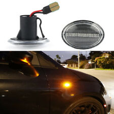 2x Clear Dynamic Full LED Side Marker Lights For 07-19 Fiat 500 500e 500c Abarth