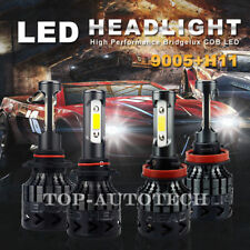 CREE LED 9005+H11 Headlight 54000LM 6500K Combo Kit Hig Low Beam light Bulb US