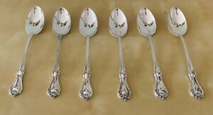 Set 6 Dessert Spoons Reed & Barton Rose Cascade Sterling Silver 7 Oz or 200 Gr