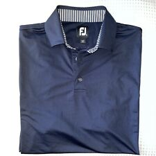 FootJoy Men's Sz L Short-Sleeve Performance Fabric Navy Blue EXCELLENT S210609
