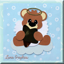 scrapbooking card Making ANGEL BEAR BLOWING BUBBLES  Embellishments
