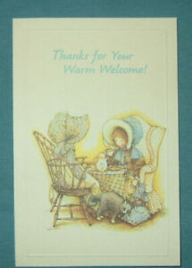 """New Vintage """"Thanks for Your Warm Welcome"""" Greeting Card"""