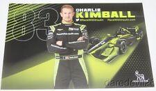 2016 Charlie Kimball Novo Nordisk Chevy Dallara Indy Car postcard