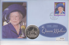 More details for british virgin islands pnc coin cover 2002 queen mother memorial $1 coin 0806