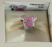 Charm PANDORA TETE MICKEY ROSE 2020 Disneyland Paris Exclusif 798453C01