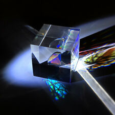 40mm Color Prism Cube of Light a Gift from Optical Science Experiment Puzzle 1PC