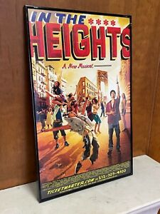 HEIGHTSTRAVAGANZA: In The Heights WINDOW CARD Broadway POSTER! Framed ORIGINAL!