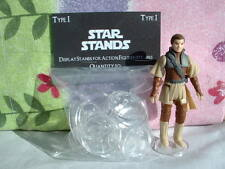 """Figure Display Stand LOT of 20-1"""" inch Clear, For Vintage Star War not ProTech A"""