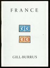 FRANCE, the GILL-BURRUS collections I, Jan 1967, auction catalogue
