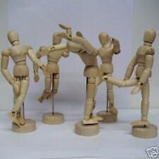 "4.5"" Wooden Manikin Mannequin Sketch Figure Bendable Parts"