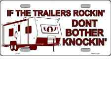 If Trailer's Rockin Novelty License Plate