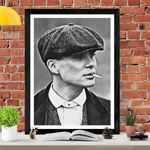 Tommy Shelby Peaky Blinders Sketch Art Picture Poster Print