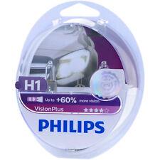 H1 Philips VisionPlus-más luz 12258vps2 faros lámpara-duo-box nuevo