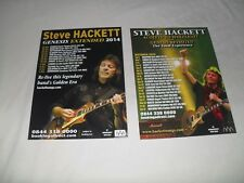 STEVE HACKETT - 2 different Lovely colour tour flyers (Mint) GENESIS